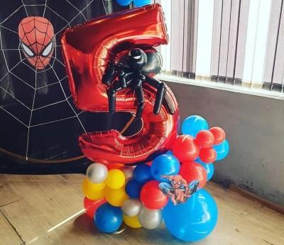Балон цифра с паяк за детски рожден ден Спайдърмен