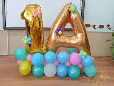 Фигура от балони за декорация на класна стая