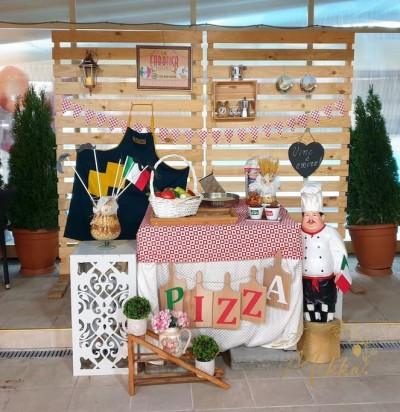 Фотокът на тема пицария за декорация на тематична вечер - Италия