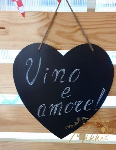 Табела сърце с надпис на итлиански за декорация събитие
