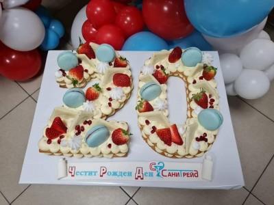 Огромни сребърни балони цифри за декорация на фирмен рожден ден