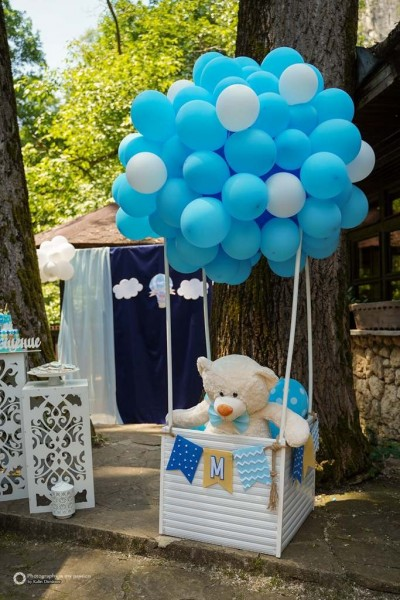 Фигура на мече и балон с горещ въздух за детско парти