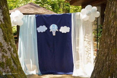 Фон за сладка маса на тема мечета за детски рожден ден и свето кръщение