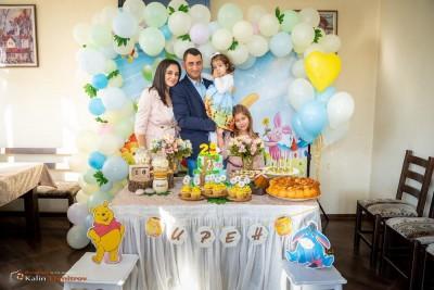Декорация за детски рожден ден на момиченце на тема Мечо Пух