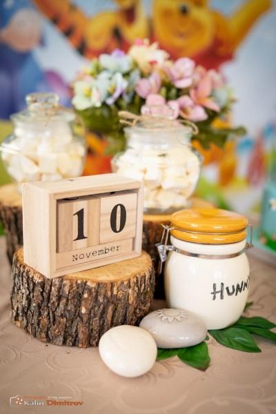 Детайли за сладка маса за детски рожден ден Мечо Пух