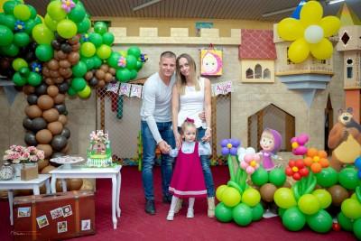 Декор за детски рожден ден Маша и мечока