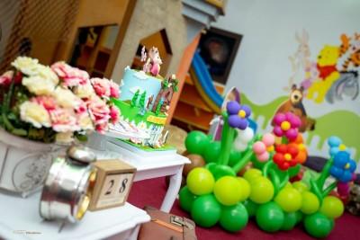 Детайли на детско парти Маша и мечока