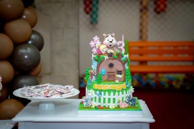 Торта с герои Маша и мечока за детски рожден ден