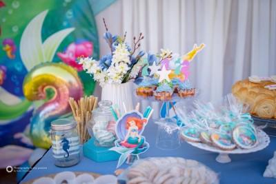 Сладка маса за детски рожден ден Малката русалка