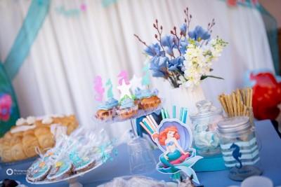 Сладка маса и декорации за детски рожден ден Малката русалка