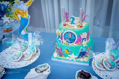 Торта на тема малката русалка Ариел