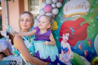 Рожден ден на момиченце на тема Малката русалка Ариел