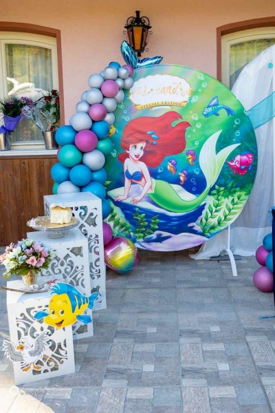 Фотокът за детски рожден ден на тема Малката русалка Ариел