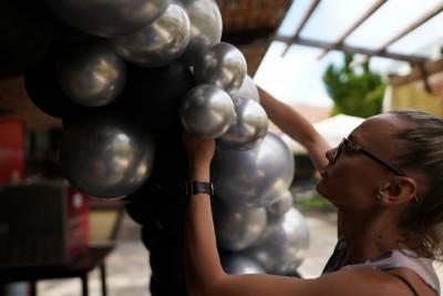 Арка отхром балони