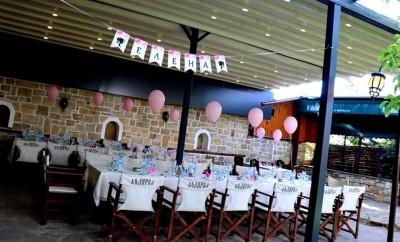 Декорация на ресторант с балони с хелий за бал в Арбанаси