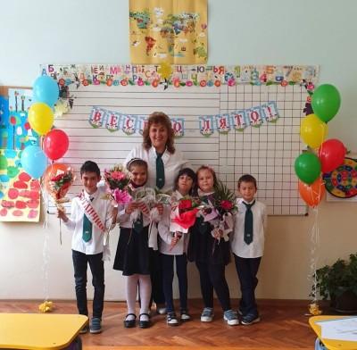 Декорация на класна стая с балони за завършване на учебната година