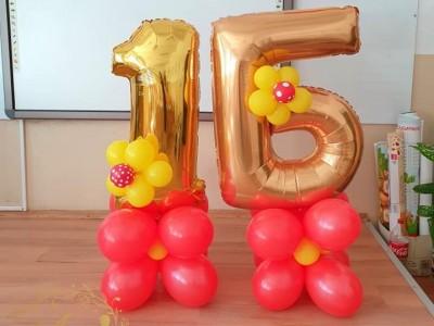 Декорация фигури от балони класна стая