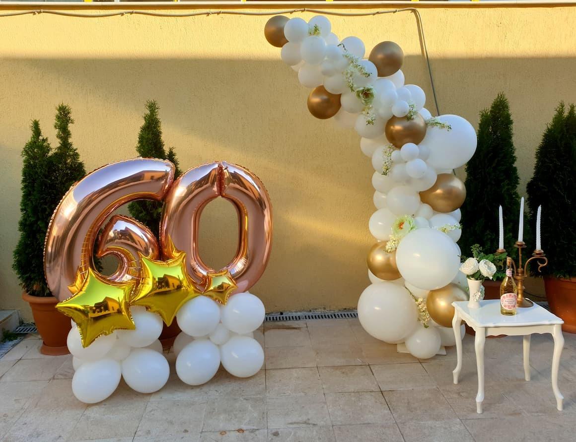Декорация на фото кът за юбилей - 60 години