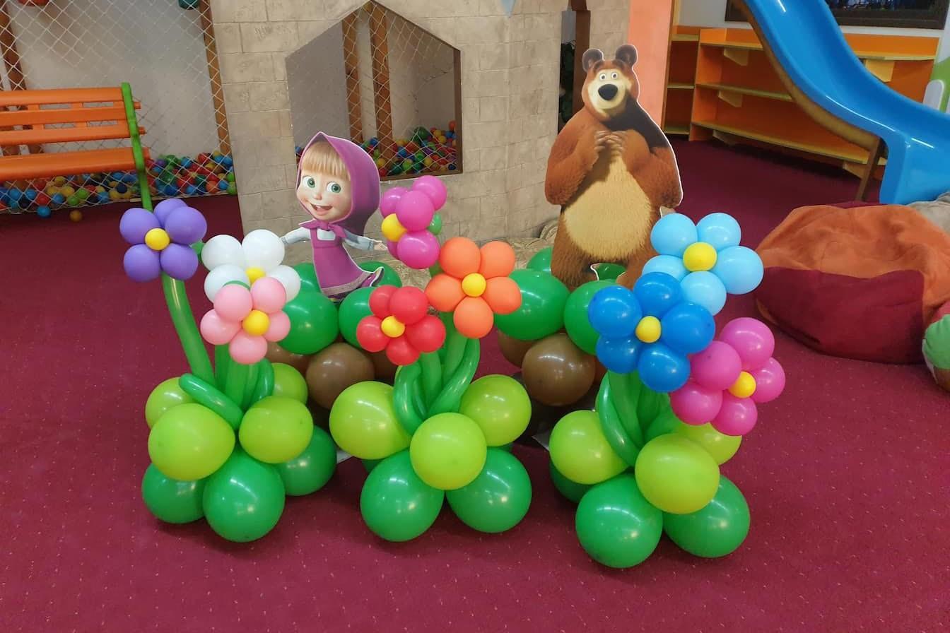 Балонени цветя да декорация на детски рожден ден