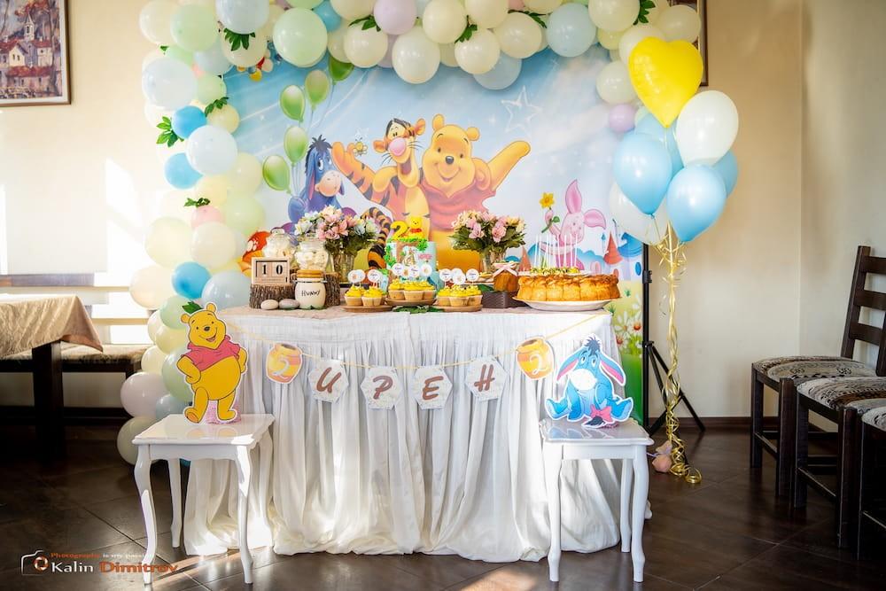Декорация за детски рожден ден на момче – Мечо пух