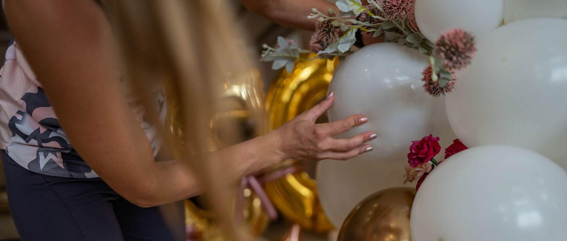 Балонена декорация на арка за юбилей - 50 години